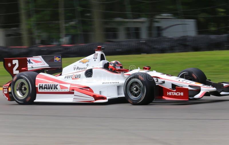 Motorista Juan Pablo Montoya do carro de Indy pro imagem de stock