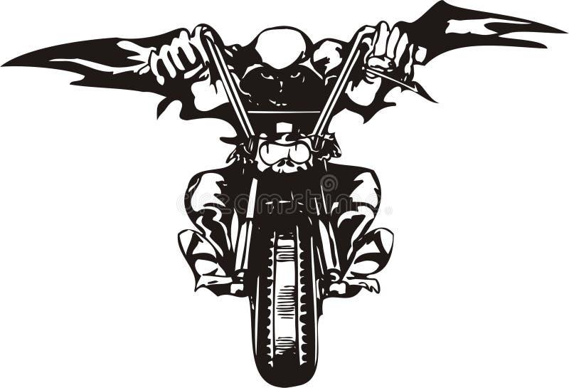 Motorista loco. foto de archivo libre de regalías