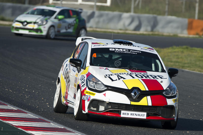 Motorista Pablo Martin Clio Cup imagens de stock