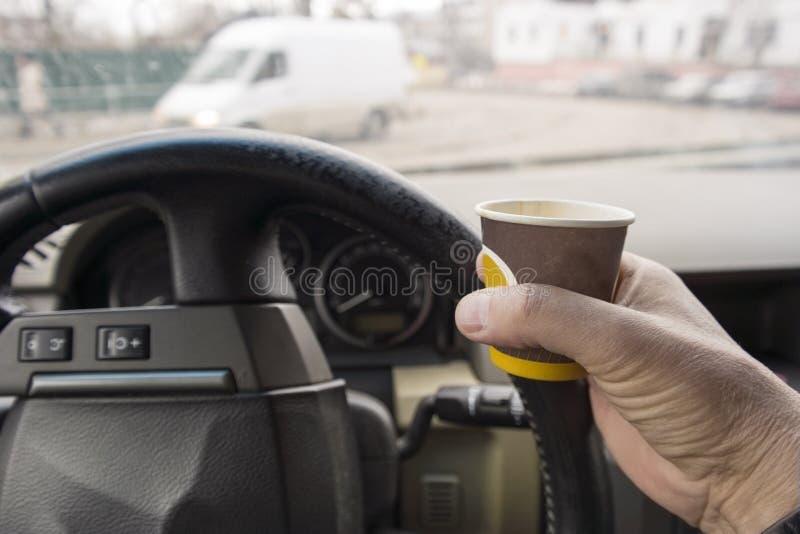 Motorista que tem uma ruptura foto de stock royalty free