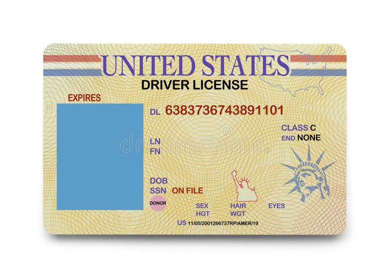 Motorista vazio License foto de stock