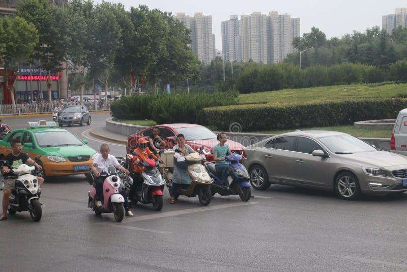 Motoristas chineses fotografia de stock