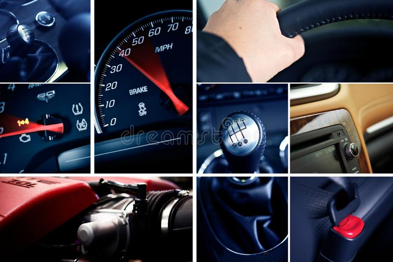 Motorizations-Mosaik lizenzfreie stockbilder