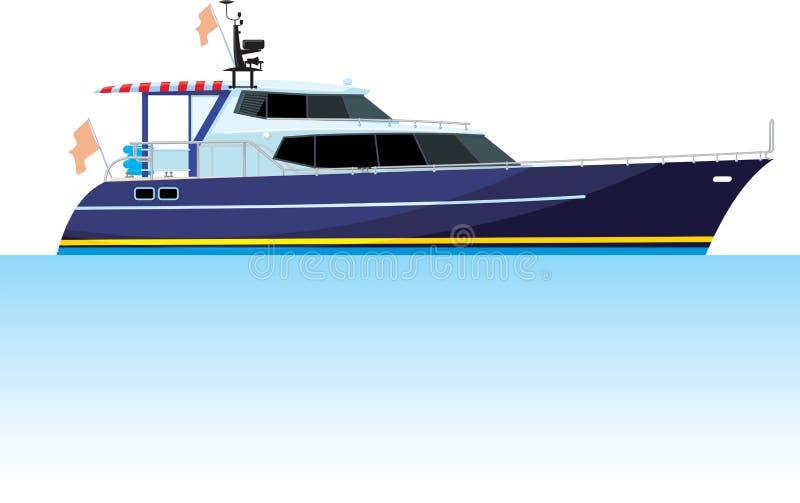 Motorjacht vector illustratie