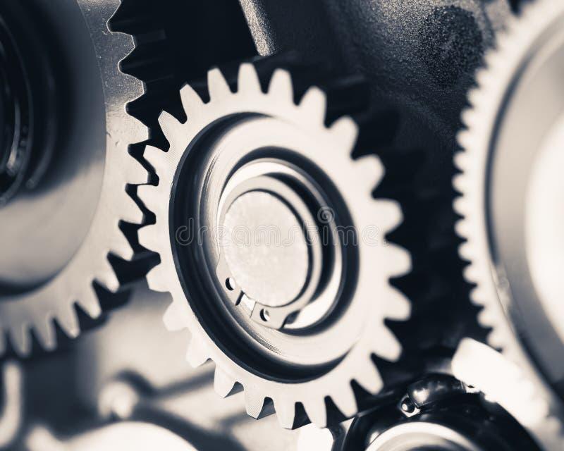 Motorkugghjulhjul fotografering för bildbyråer
