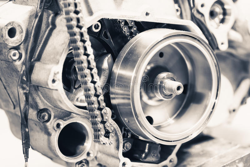 Motorkugghjulhjul arkivbild