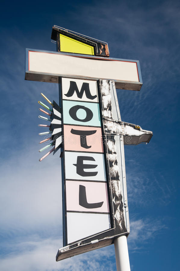 Download Motorlodge Sign stock image. Image of antique, holiday - 27624009