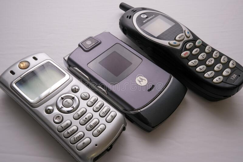 Motorola Cell Phones from Early 2000s stock photos