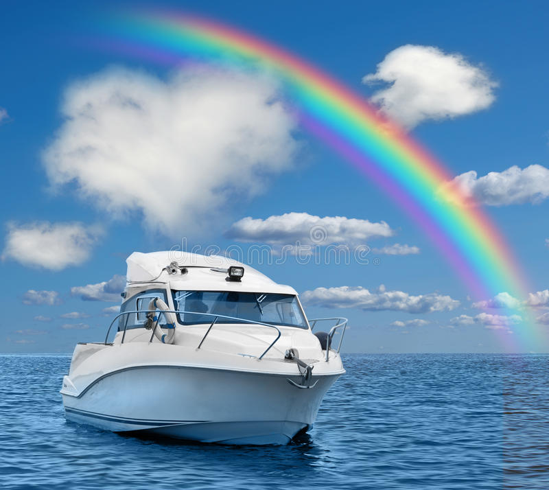 Motorowa łódź obraz royalty free