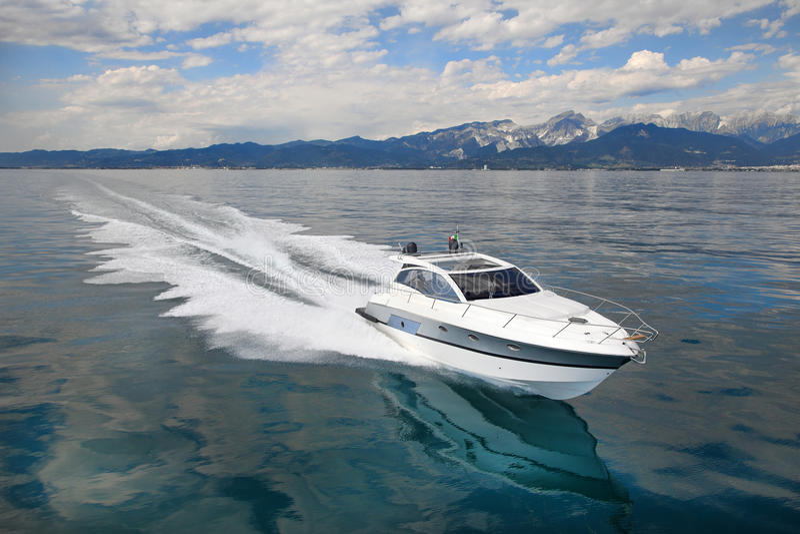 Motorowa jacht łódź fotografia stock