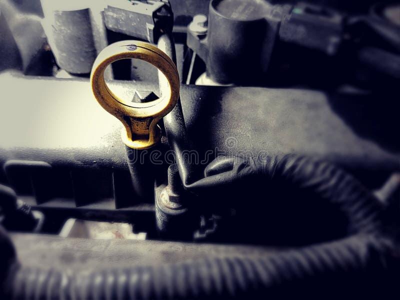 Motorowego oleju dipstick obrazy royalty free