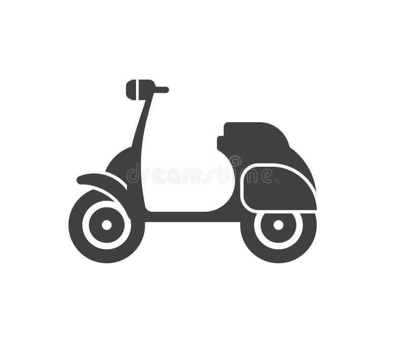 Motorowej hulajnoga ikona royalty ilustracja