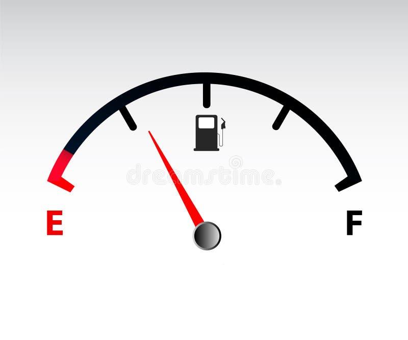 Motorowy benzynowy wymiernik royalty ilustracja