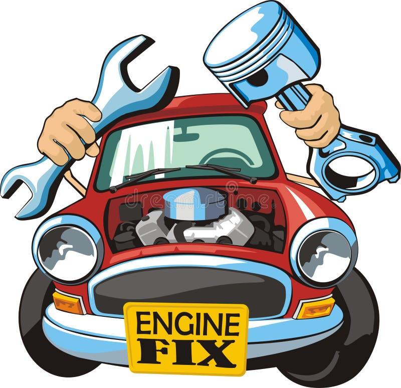 Motorowy dylemat ilustracja wektor