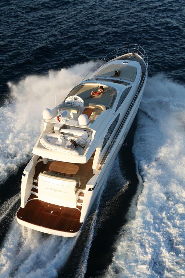 Motorowy jacht fotografia stock