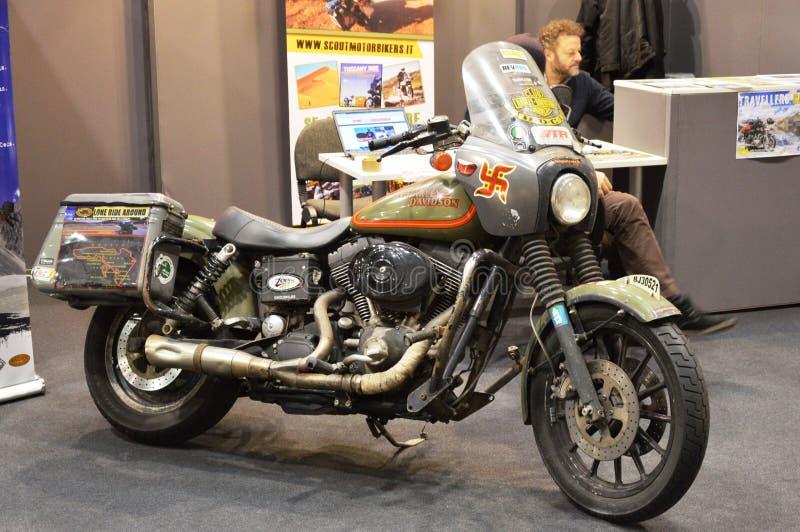 Motorowy roweru expo, motocykl Harley Davidson obrazy royalty free