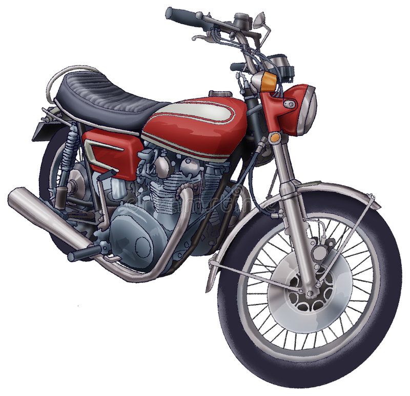 Motorrad vektor abbildung