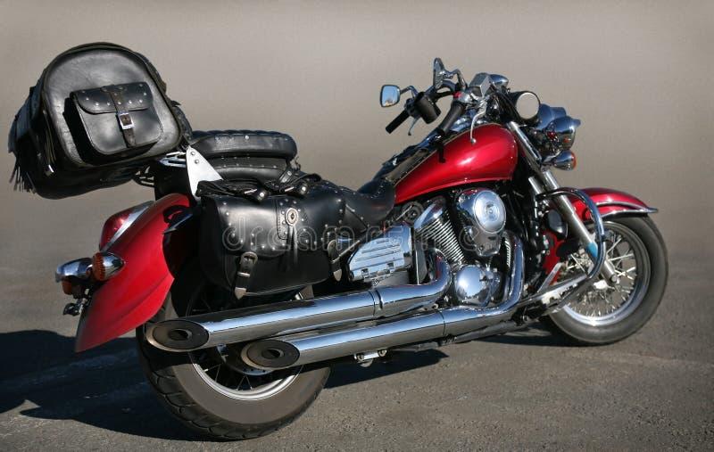 Motorrad auf Asphalt stockfoto
