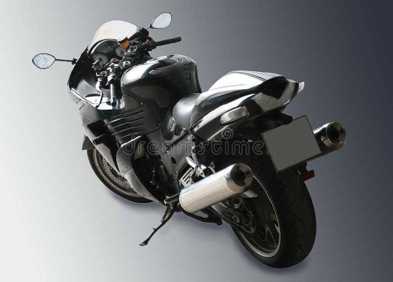 Motorrad auf schwarzem Steigungshintergrund lizenzfreie stockfotos