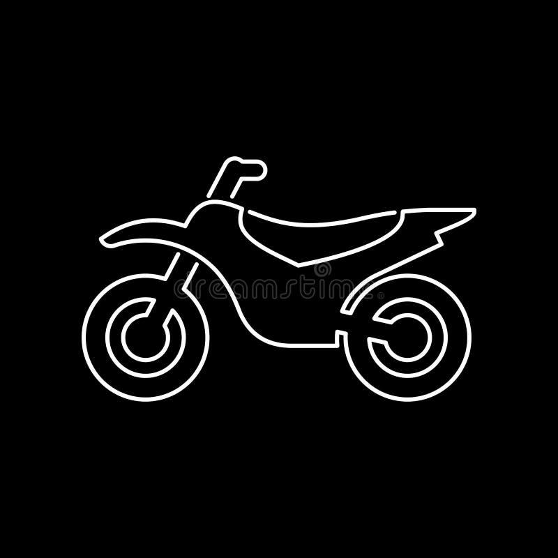 Motorrad, Einfache Flache Vektorillustration Der Motorradikone ...