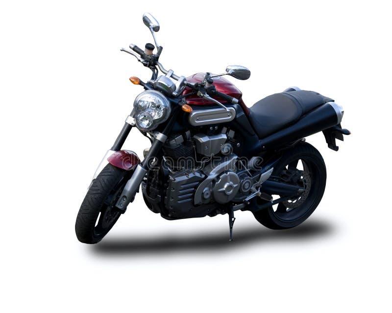 Motorrad getrennt auf Weiß stockfoto