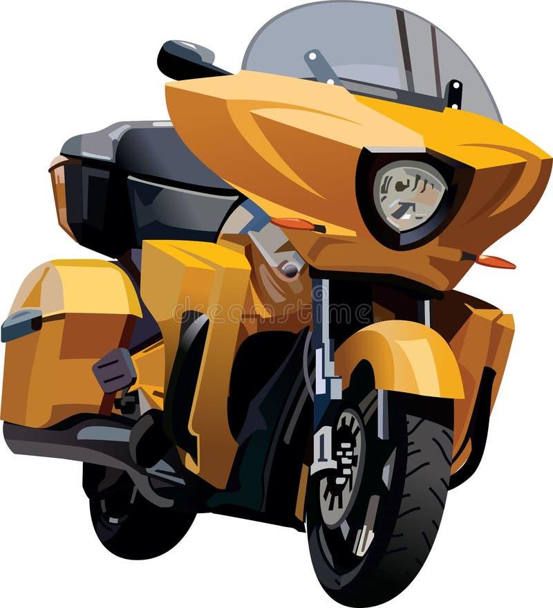 Motorrad hartes _vector1 lizenzfreies stockfoto