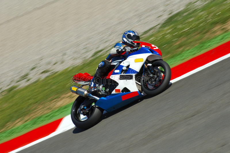 Motorrad-Laufen stockfoto