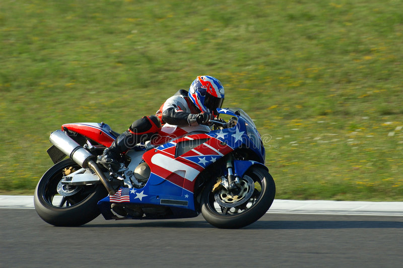Motorrad-Laufen stockfotos