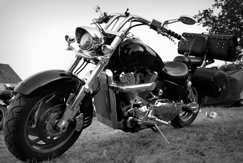 Motorrad-, Metall- und Chromteile lizenzfreie stockbilder