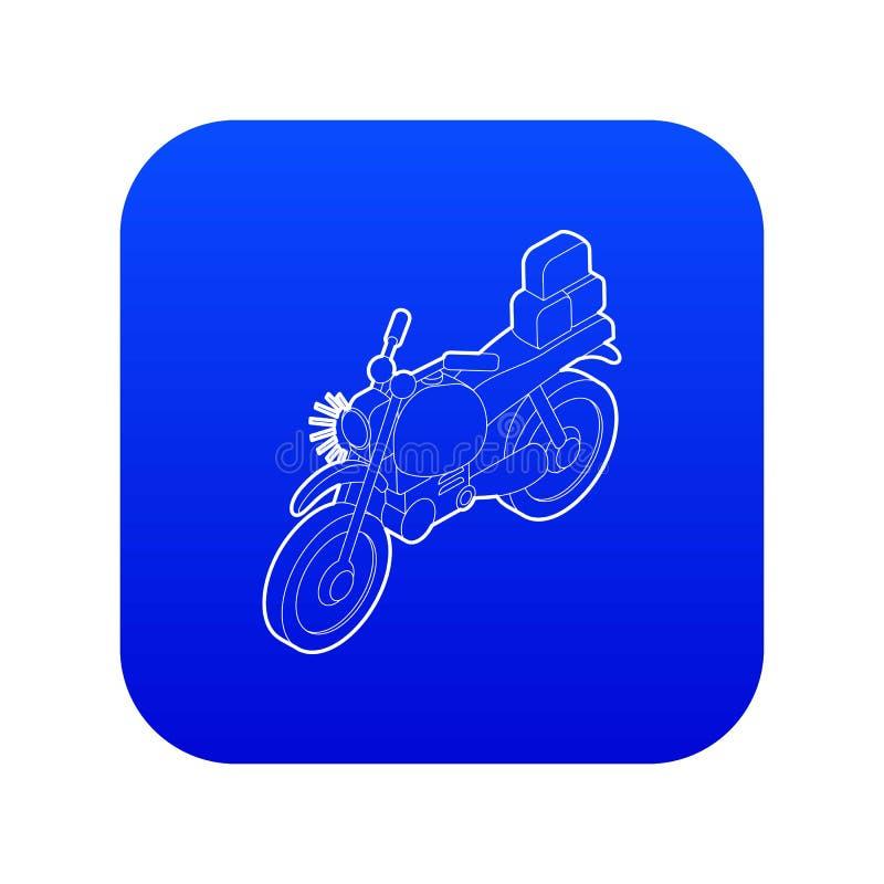 Motorrad mit blauem Vektor der Frachtikone vektor abbildung