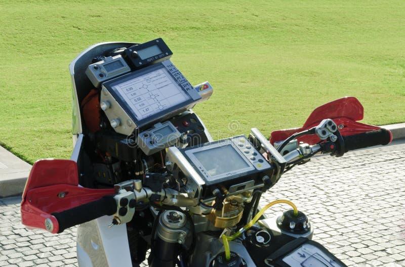 Motorrad-Navigations-Instrumente stockbild