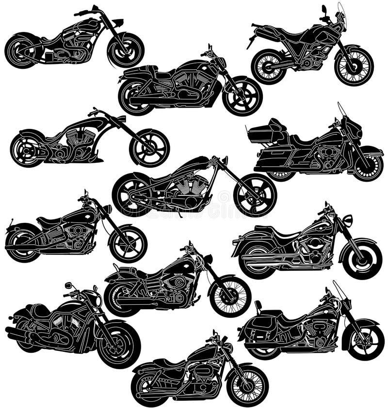 Motorrad-Paket einzeln aufgeführt vektor abbildung
