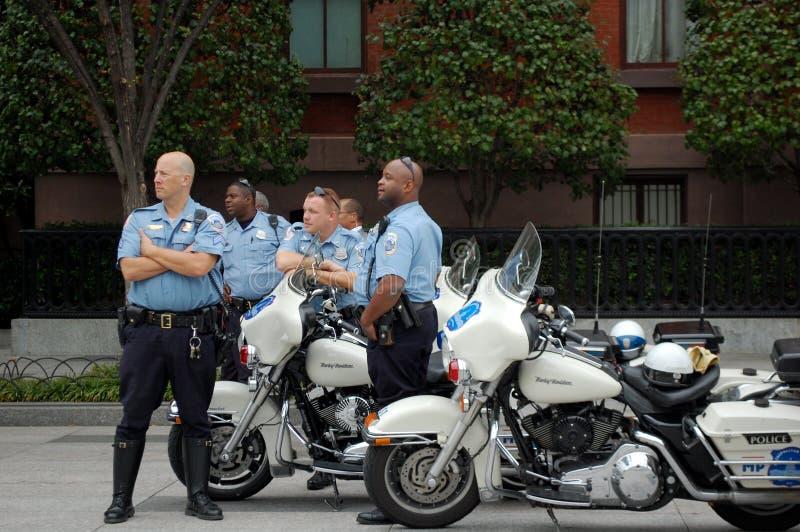 Motorrad-Polizei, Washington DC stockfoto