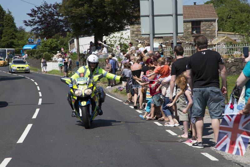 Motorrad-Polizist lizenzfreies stockfoto