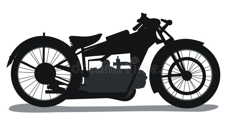 Motorrad-Schattenbild vektor abbildung