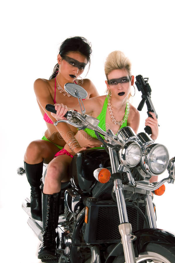 Motorrad-Verrücktheit stockfotos