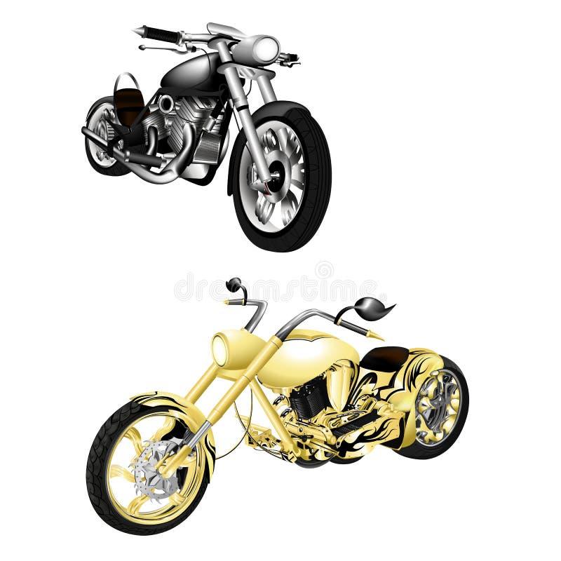 Motorrad, Zerhacker lokalisierte Gegenstände vektor abbildung