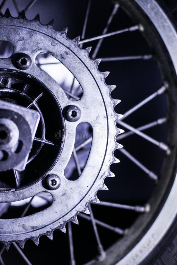 Motorradkettenrad lizenzfreies stockfoto