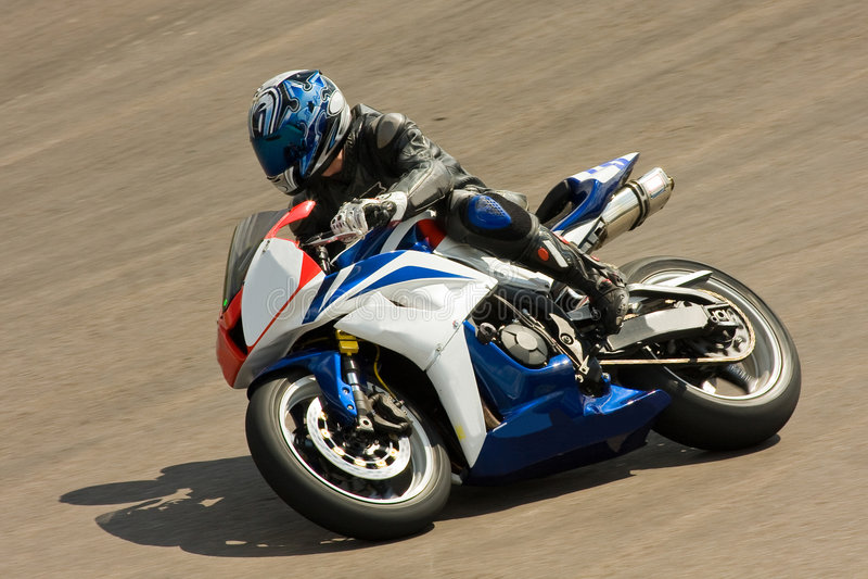 Motorradlaufen. stockfotos