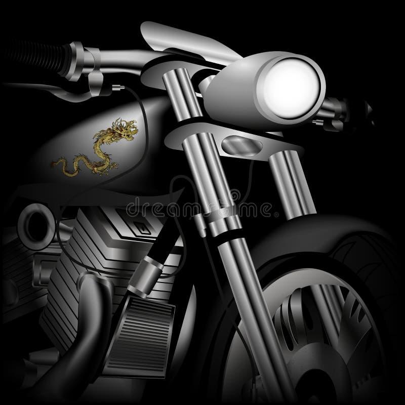Motorradnahaufnahme lizenzfreie abbildung