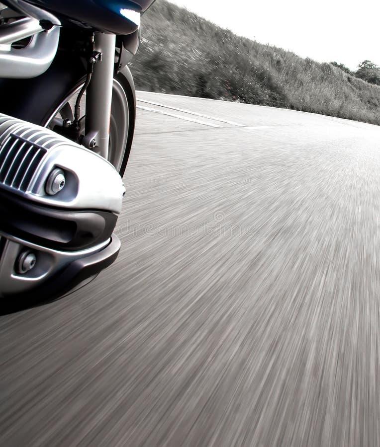 Motorradreiteransicht lizenzfreies stockbild
