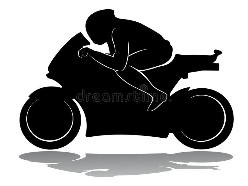Motorradrennläufer, Vektorillustration lizenzfreie abbildung
