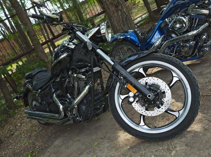 Motorradzerhacker stockfoto