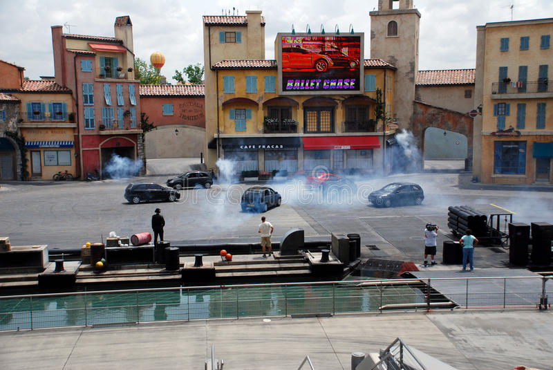 Motors Extreme Stunt show royalty free stock images