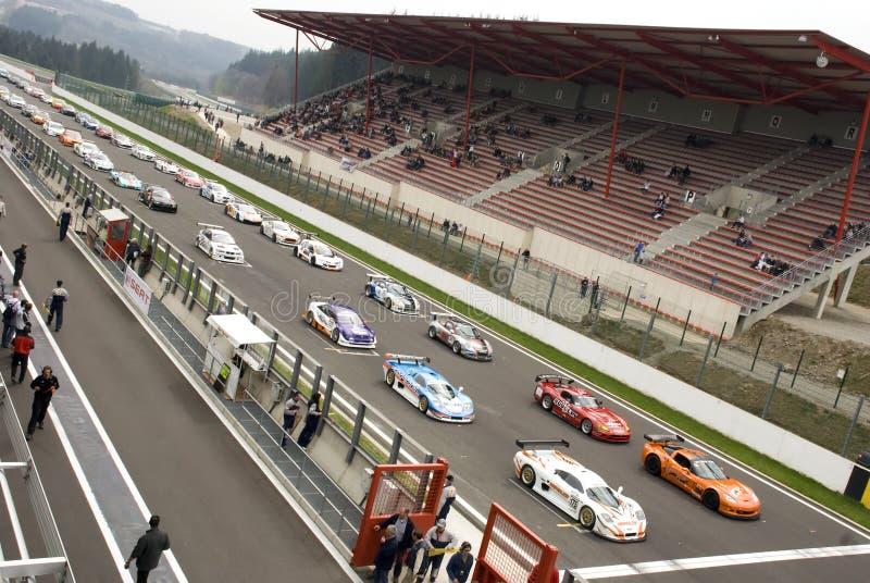 motorsport royaltyfria bilder