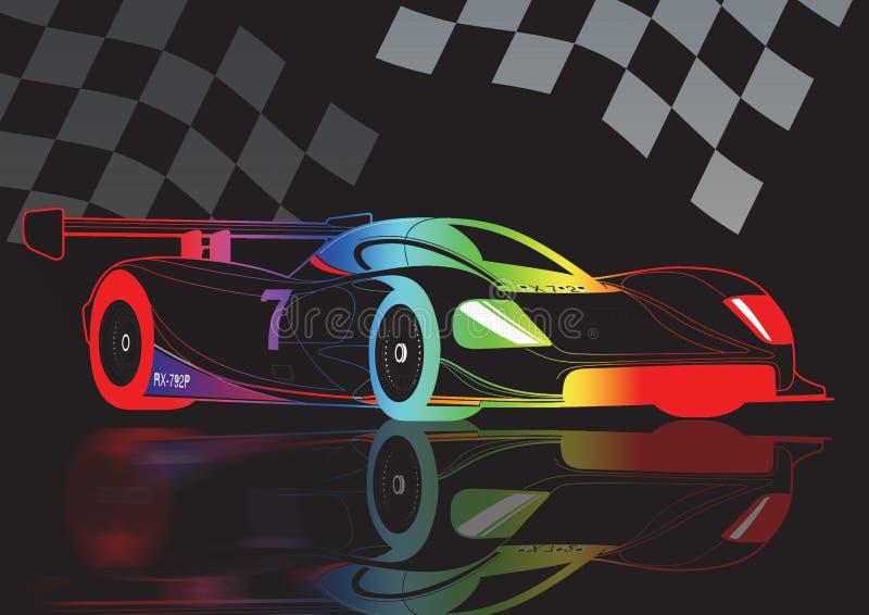 motorsport royaltyfri illustrationer