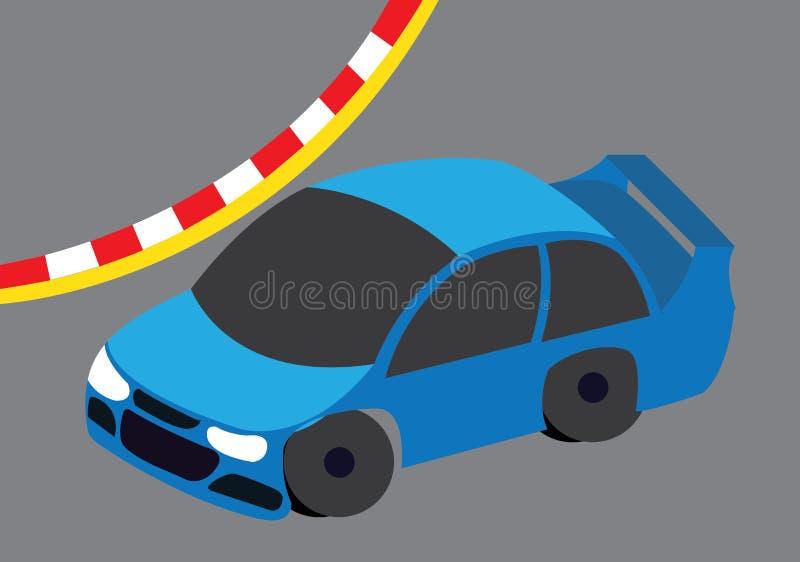 MotorSportauto op rasspoor royalty-vrije illustratie