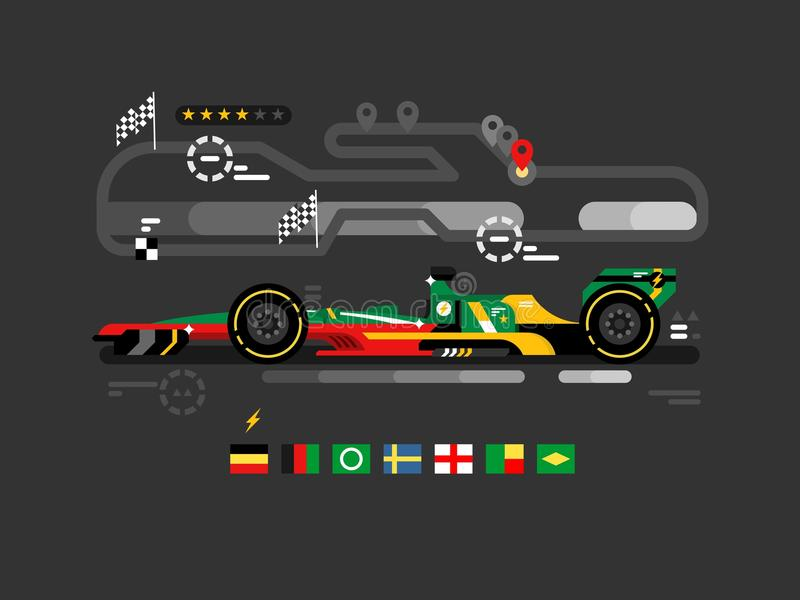 Motorsportformel en royaltyfri illustrationer