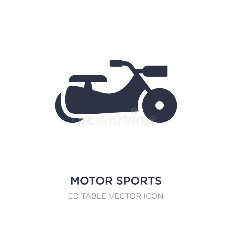 Motorsportikone auf weißem Hintergrund Einfache Elementillustration vom Sportkonzept vektor abbildung