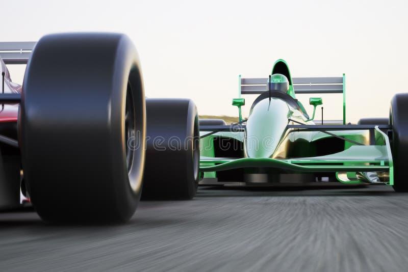 Motorsportlaufen stock abbildung